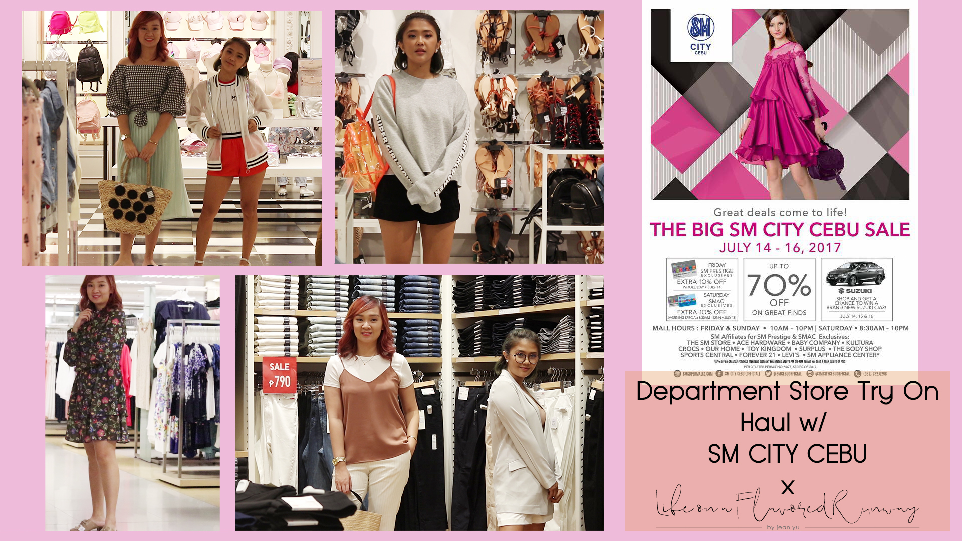 [VLOG] Department Store Try On Haul x SM City Cebu x Jean Yu (Life On A Flavored Runway) for SM 3 DAY SALE