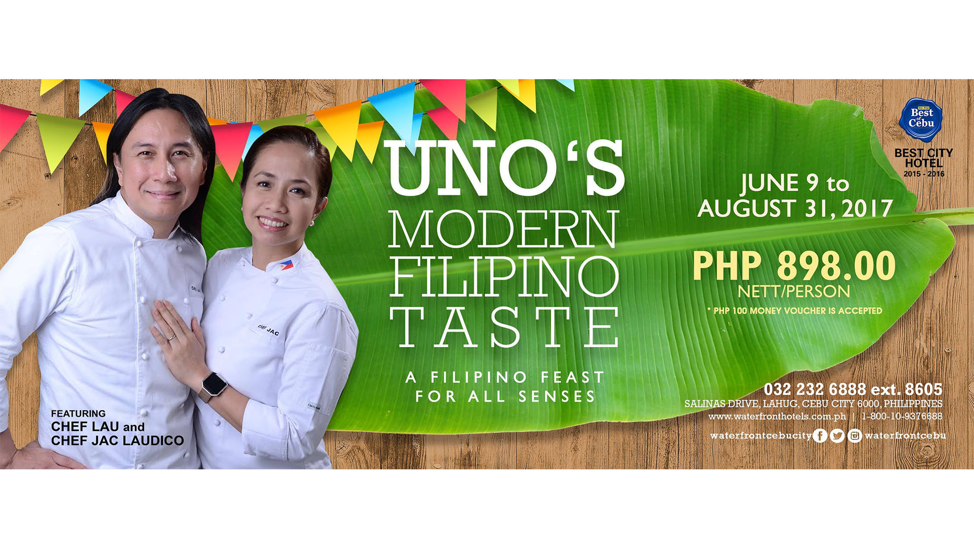 Waterfront Cebu City Hotel & Casino Celebrates Buwan Ng Wika w/ Celebrity Chef Couple + August Promotions