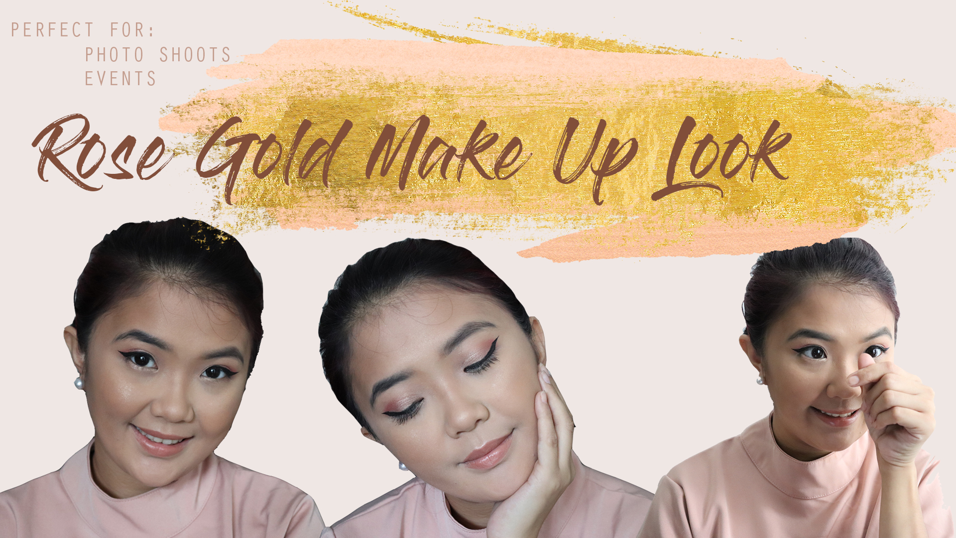 GRWM- Rose Gold Make Up Look