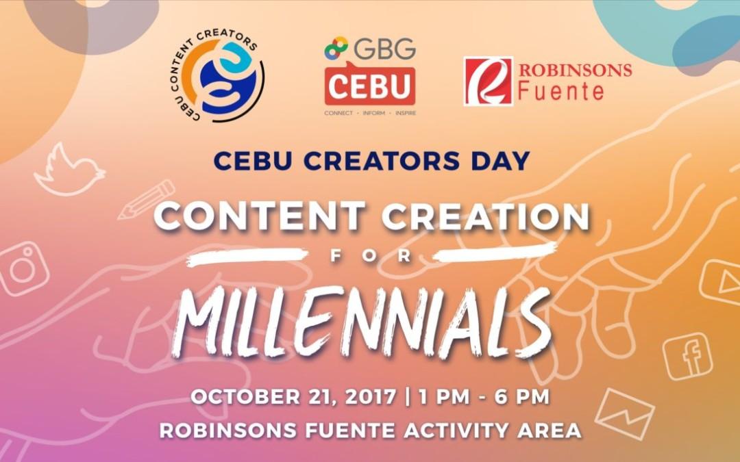 I'll Be Speaking On Cebu Creator Day, October 20 (FREE WORKSHOP)!