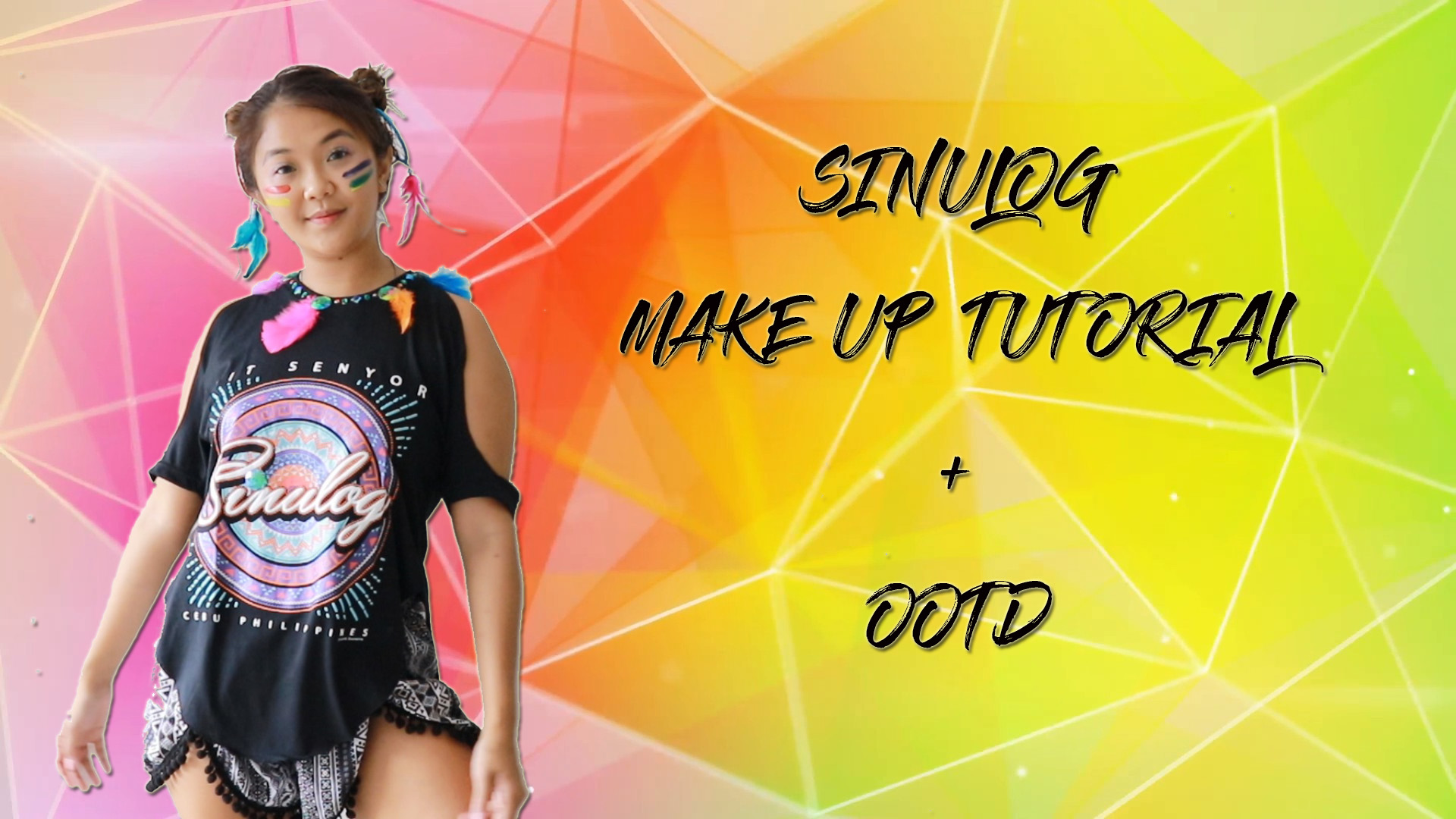 Sinulog/ Festival/ Mardi Gras Make up + Cut & Style Outfit Idea