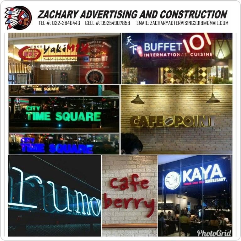 Signages in Cebu- Neon Signs & etc.- Zachary Advertising